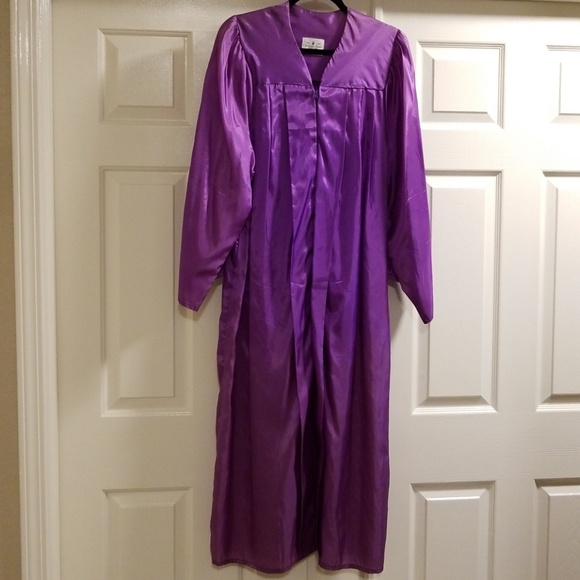 Jostens Other | Purple Silky Graduation Gown | Poshmark